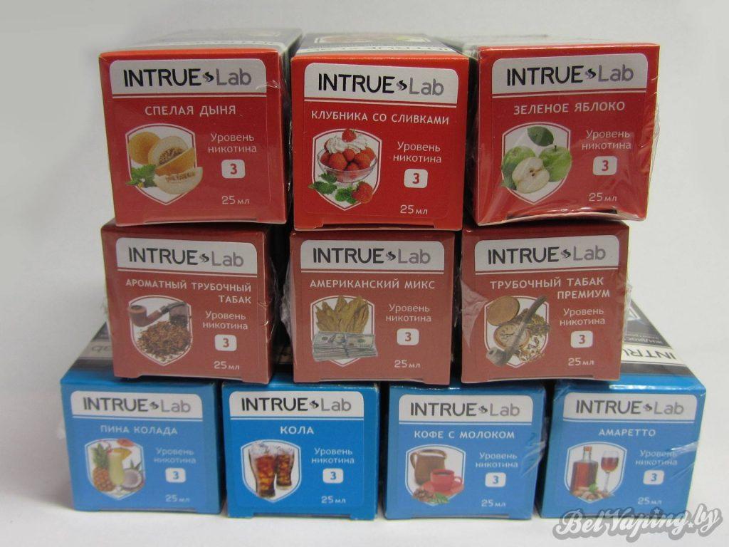 Жидкость для электронный сигарет INTRUE Lab - все вкусы