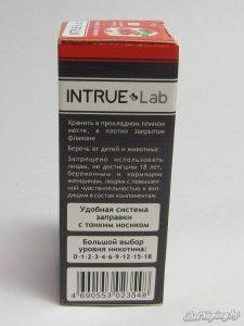 Жидкость для электронный сигарет INTRUE Lab - боковая сторона упаковки