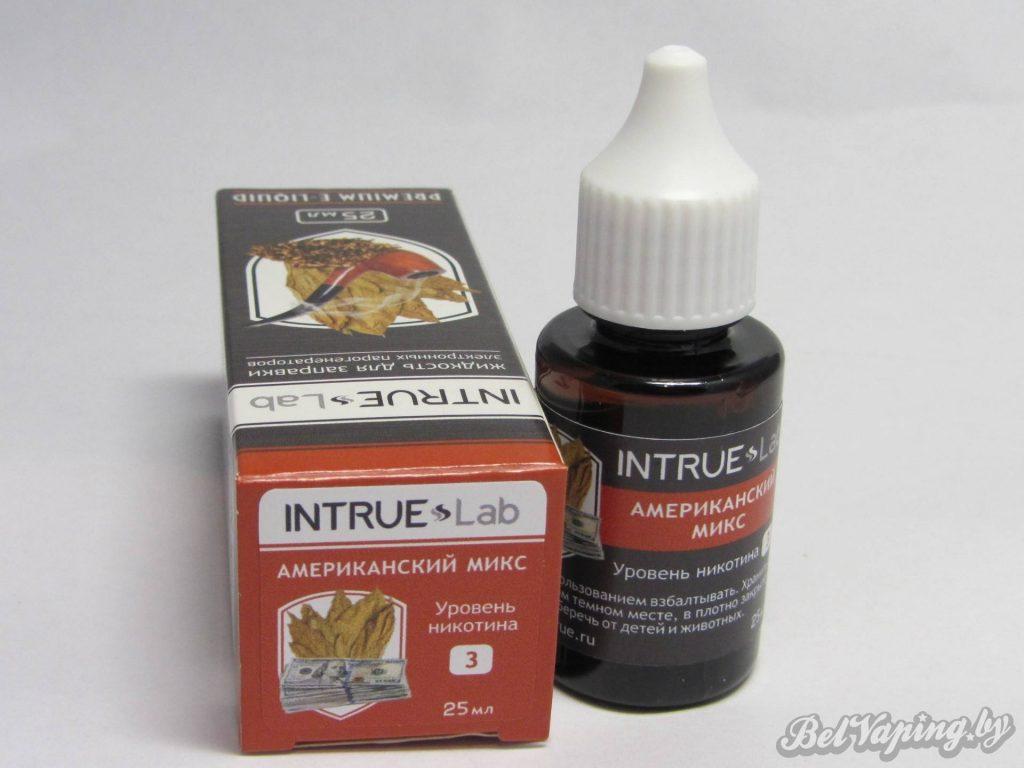 Жидкость для электронный сигарет INTRUE Lab - Американский микс