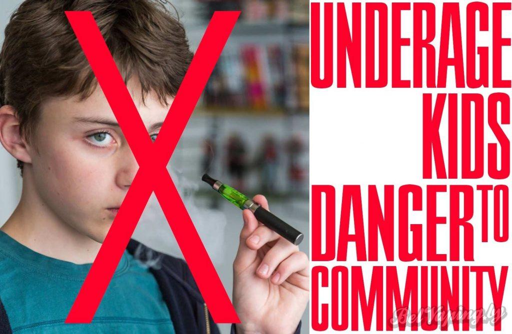 Малолетние вэйперы - угроза сообществу