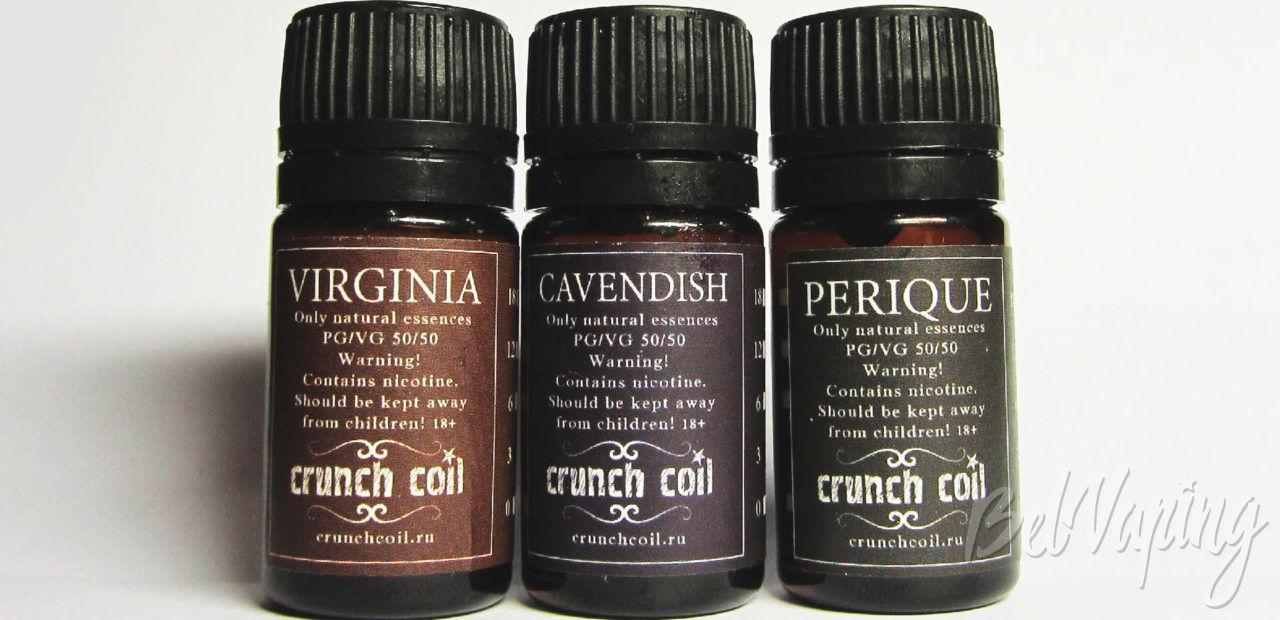 Обзор жидкостей Crunch Coil. Серия Tobacco