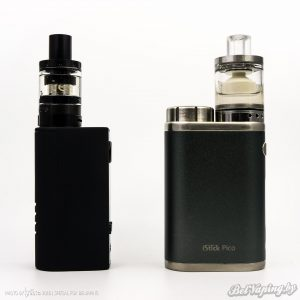 Сравнение Aspire And Milspec Mini Kit (слева) и Eleaf iStick Pico