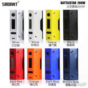 Возможные цвета боксмода Smoant Battlestar 200W - Изображение из Instagram @smoant_official