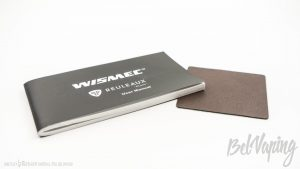 Руководство и наклейка из кожзаменителя Wismec Reuleaux RXmini