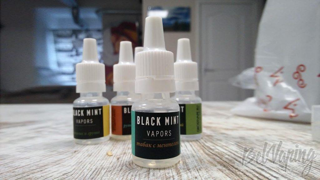 Жидкость Black Mint Vapors - табак с ментолом
