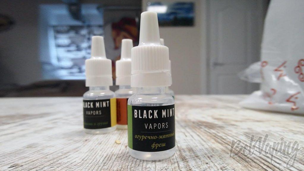 Жидкость Black Mint Vapors - огуречно-мятный фреш