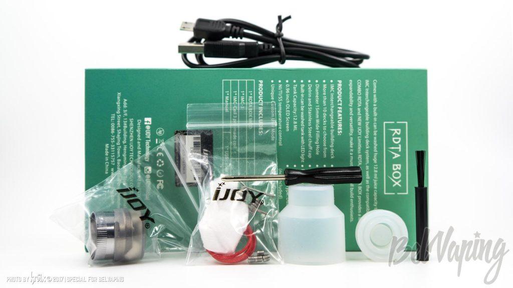 Комплектация iJoy RDTA BOX 200W TC