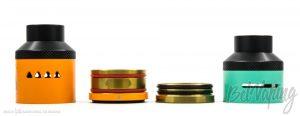 Купол и кольцо Limitless RDTA Classic Edition (слева) и атомайзера RDTA BOX