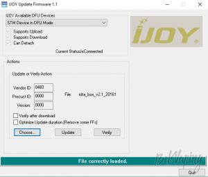 Обновление прошивки iJoy RDTA BOX 200W TC