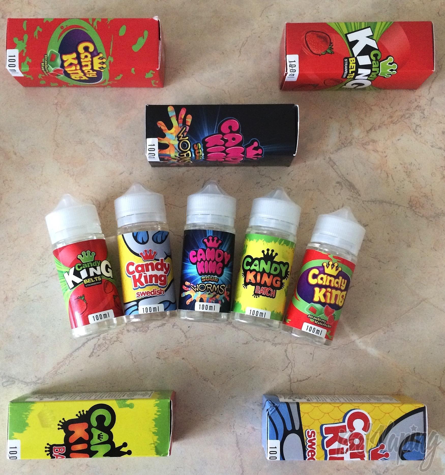 Обзор жидкости для электронных сигарет Candy King