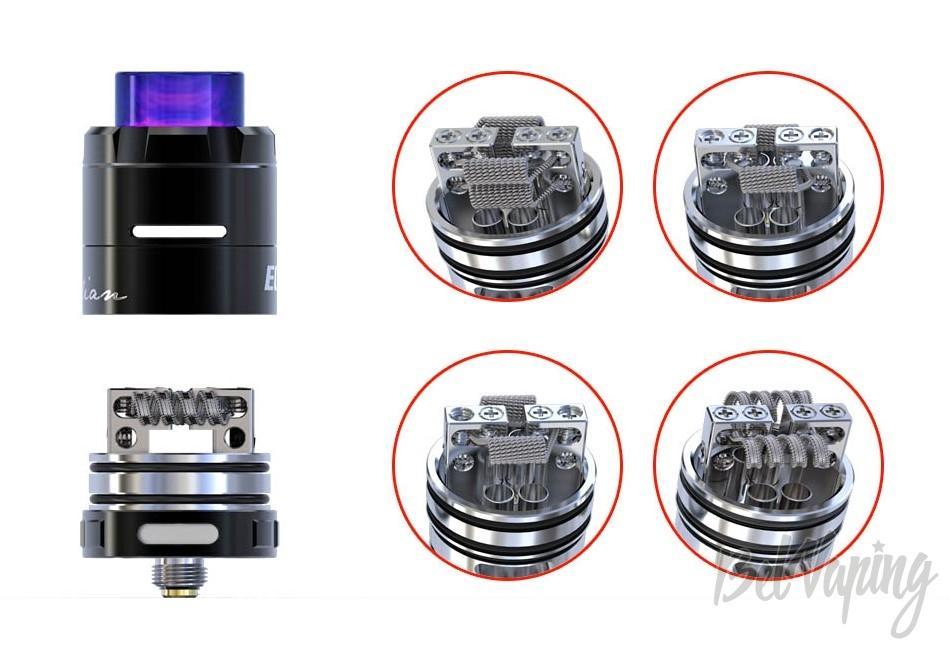 Варианты установки спиралей CIGPET ECO RDA