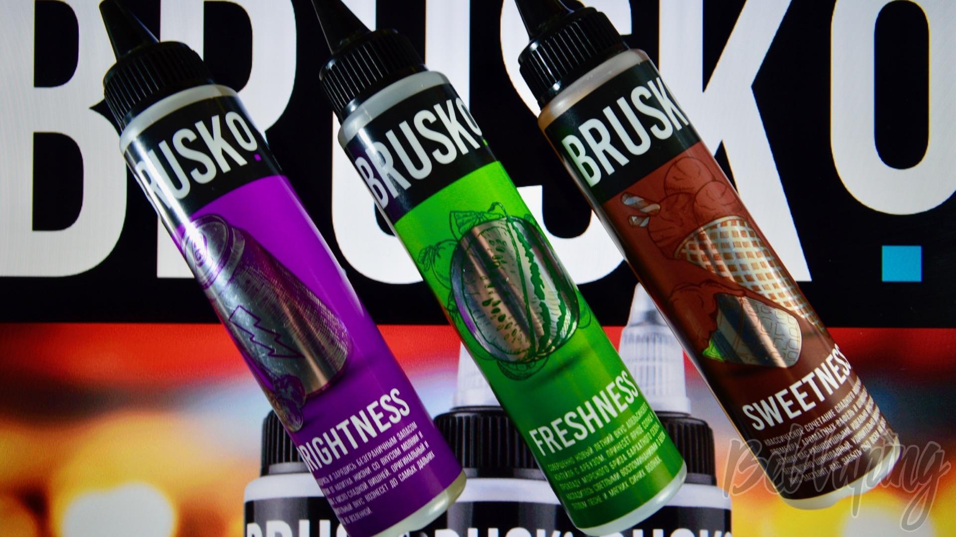 Обзор трех новых вкусов жидкости BRUSKo