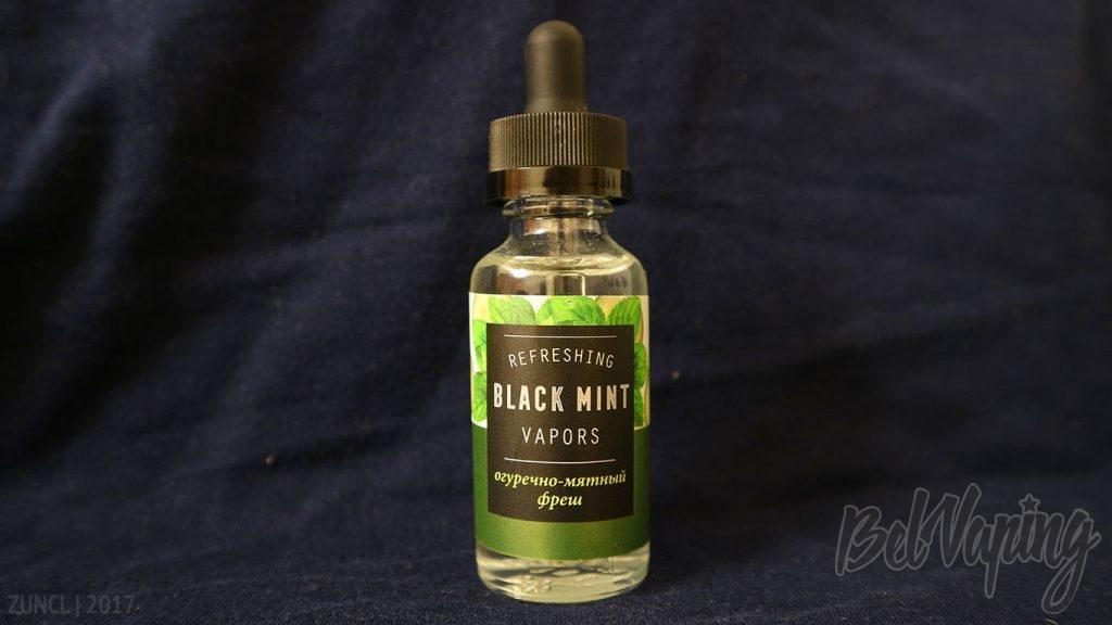 Обзор жидкости Black Mint Vapors - огуречно-мятный фреш