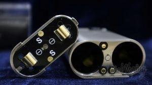 Обзор модов Noisy Cricket I и II (22мм) - положение крышки для последовательного соединения аккумуляторов