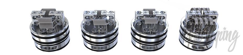 Варианты установки в ECO RDA спиралей по версии CIGPET