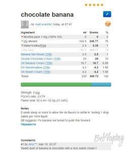 Один из рецептов на сайте e-liquid-recipes.com