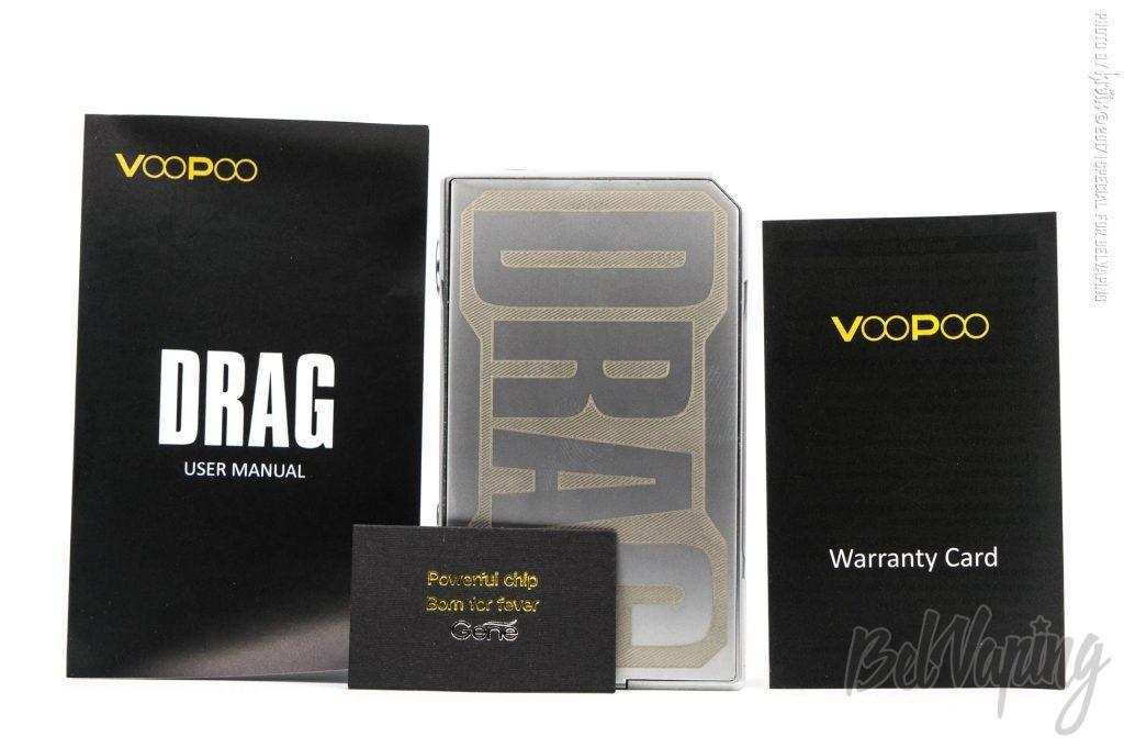 Комплектация Voopoo DRAG 157W TC