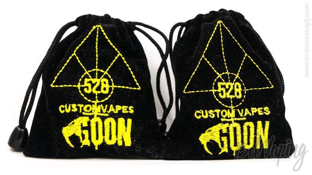 Сравнение Goon RDA. Слева - 3FVape, справа - 528 Custom Vapes