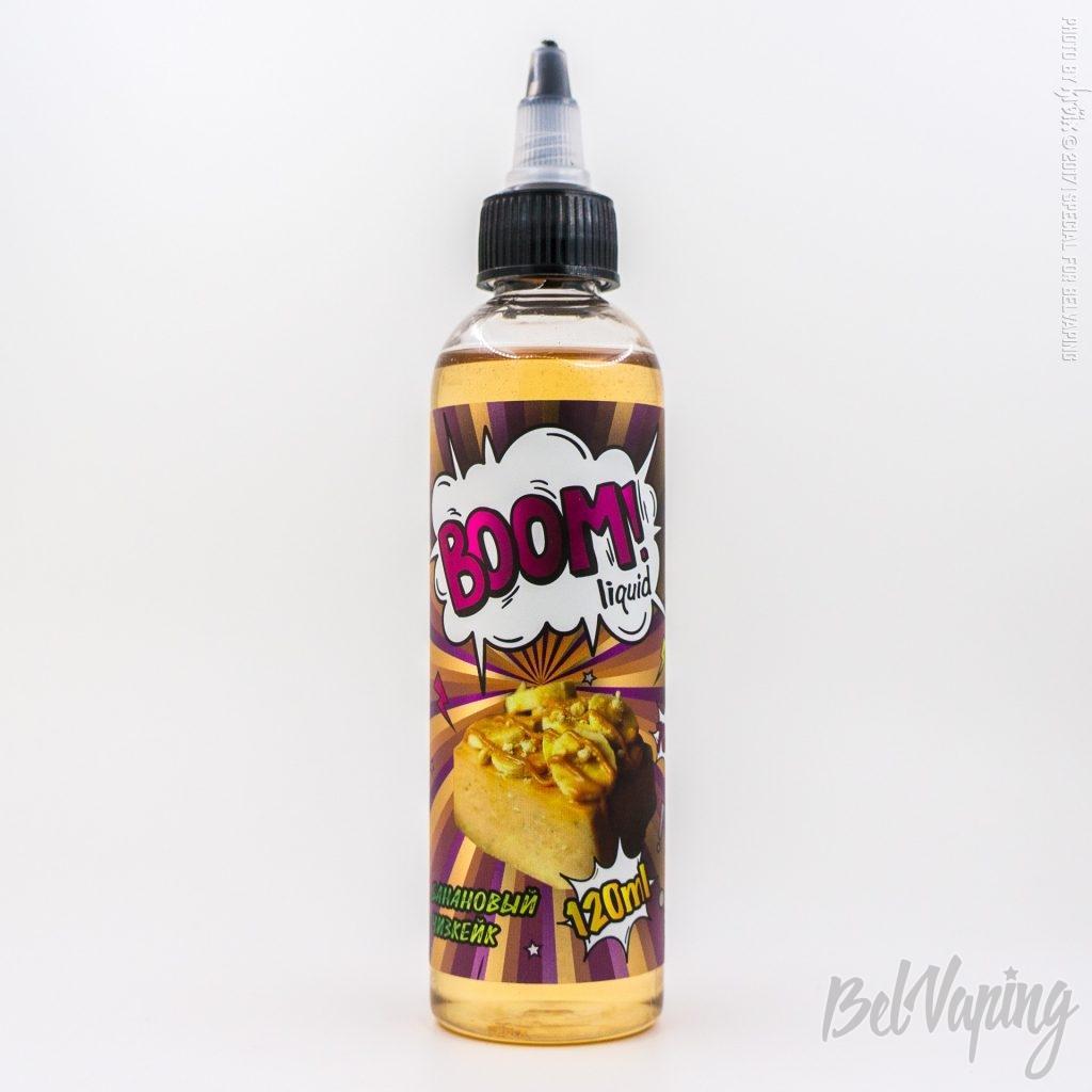 Жидкость BOOM liquid - Банановый чизкейк