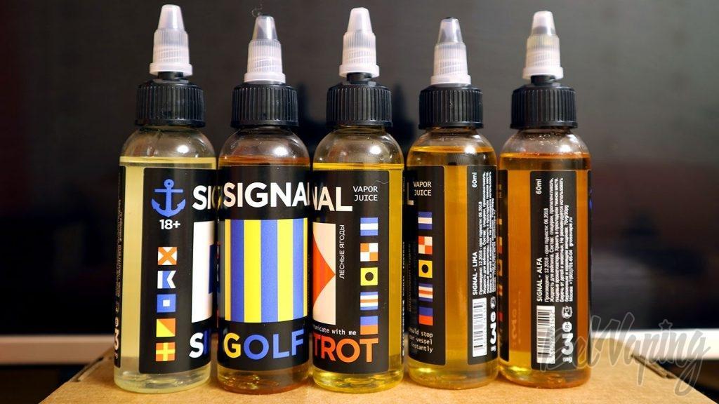 Обзор жидкостей SIGNAL - Картинки на этикетках