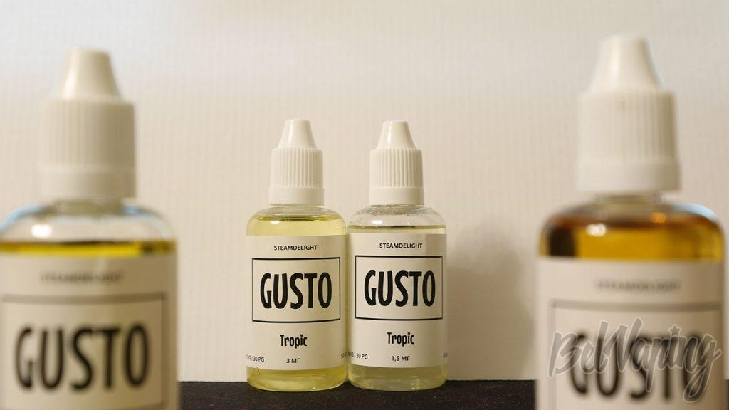 Обзор жидкости GUSTO by STEAMDELIGHT - вкус Tropic