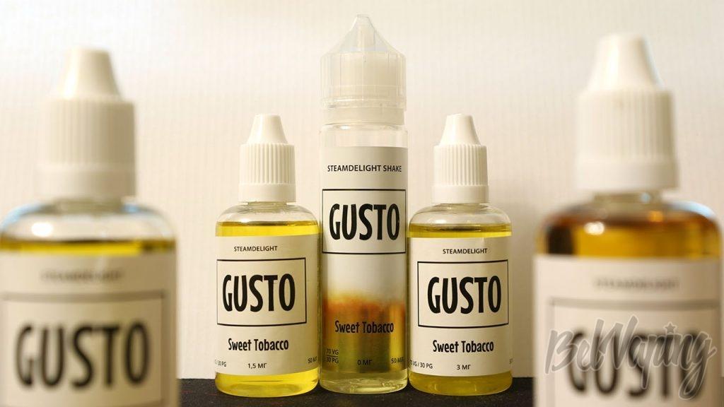 Обзор жидкости GUSTO by STEAMDELIGHT - вкус Sweet Tobacco