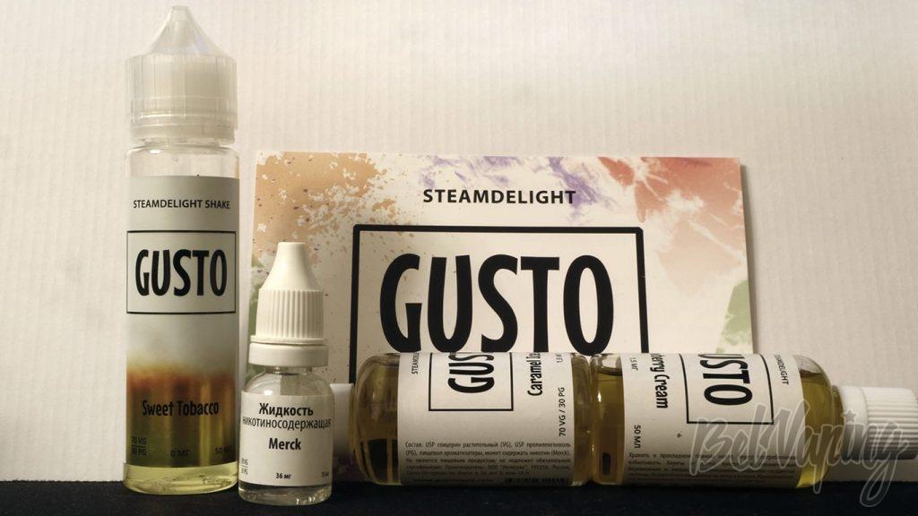 Обзор жидкости GUSTO by STEAMDELIGHT- никотин Merck