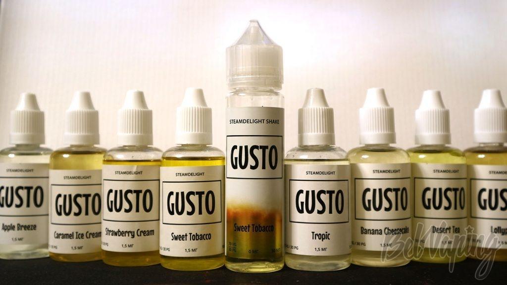Обзор жидкости GUSTO by STEAMDELIGHT - такие разные бутылочки