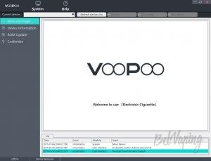 Приветственное окно программы VooPoo PC APP