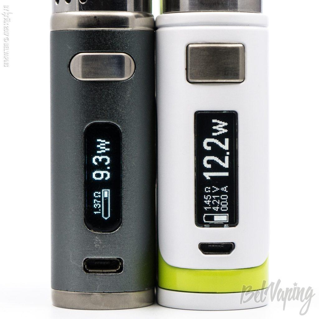 Экран iStick Pico 75W (слева) и iStick Pico 25 85W