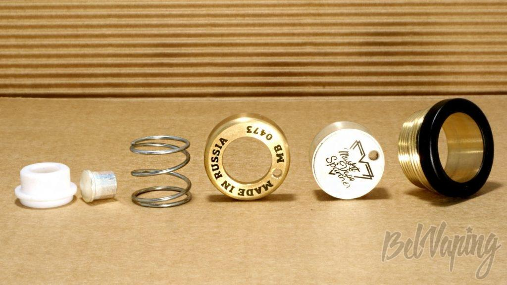 Обзор мехмода Spanner от Maskit Vape и Vape Mechanic - Кнопка в разборе