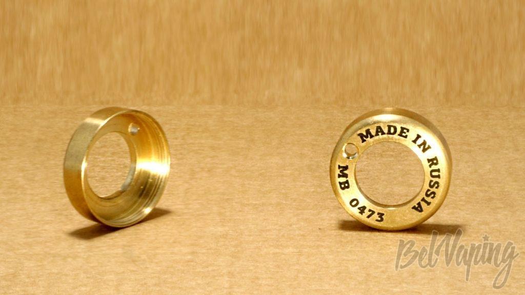Обзор мехмода Spanner от Maskit Vape и Vape Mechanic - Верхнее кольцо кнопки
