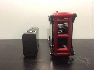 Сранение eVict VTC Mini (слева) и Smoant Rabox