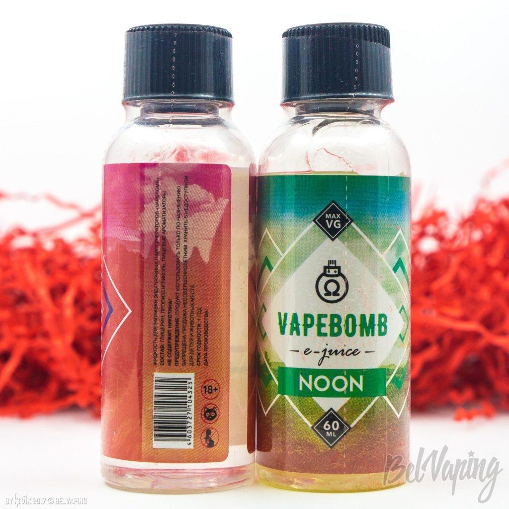 Этикетка жидкости VAPEBOMB e-juice