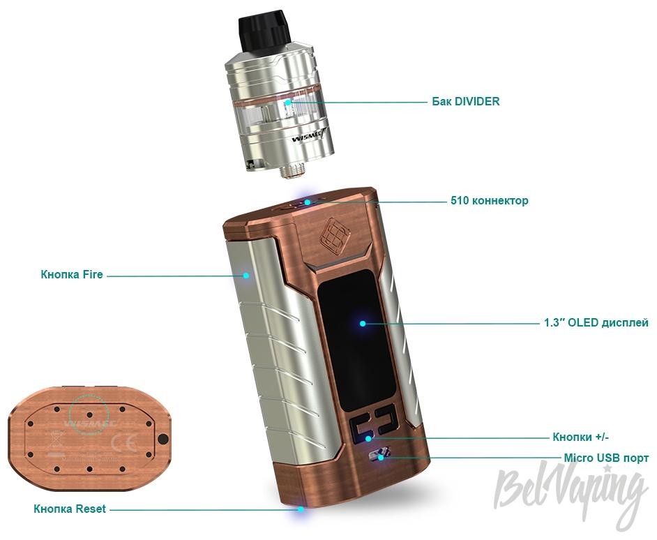 Конструктив Wismec Sinuous FJ200