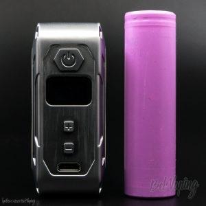 Сравнение размеров iKarno X-mini TC Box MOD и аккумулятора 18650