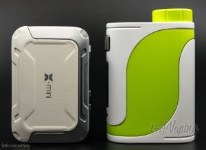 Сравнение размеров: iKarno X-Mini (слева) и iStick Pico 25