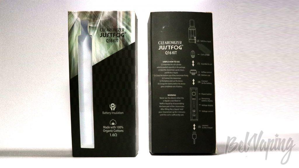 JustFog Q16 KIT - упаковка