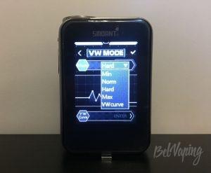 Экран боксмода Smoant Charon TS218
