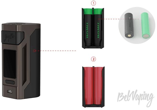 Аккумуляторы в Wismec Reuleaux RX2 20700