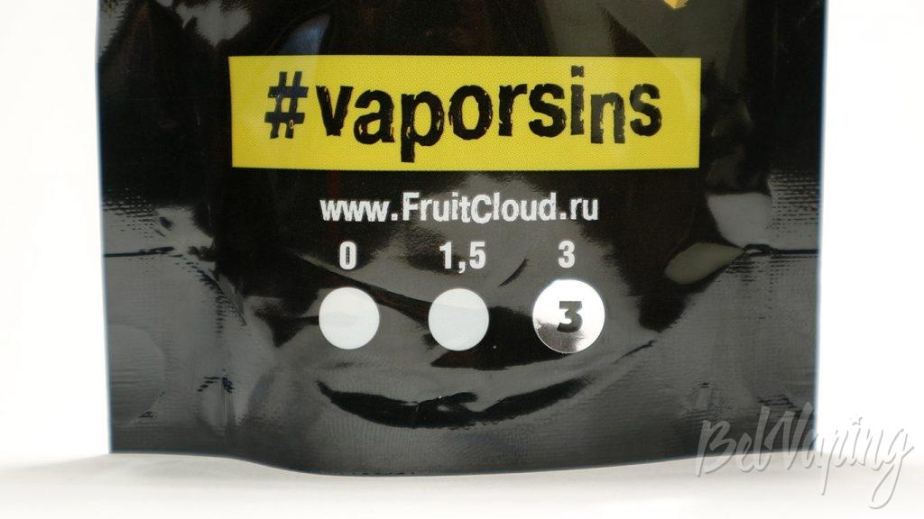 Жидкости #VaporSins - содержание никотина