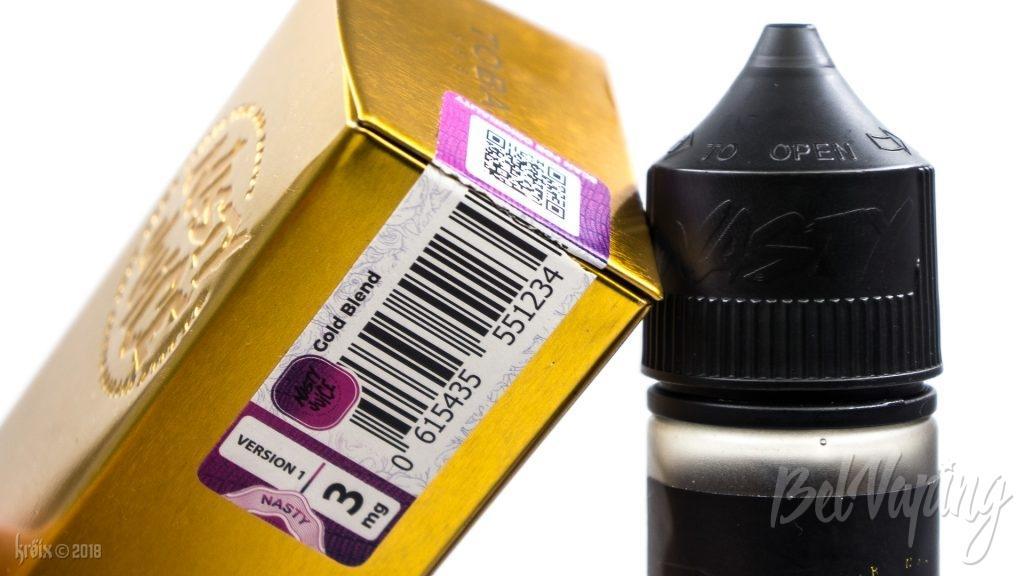 Пломба на коробке и колпачок флакона Nasty Juice Tobacco Series