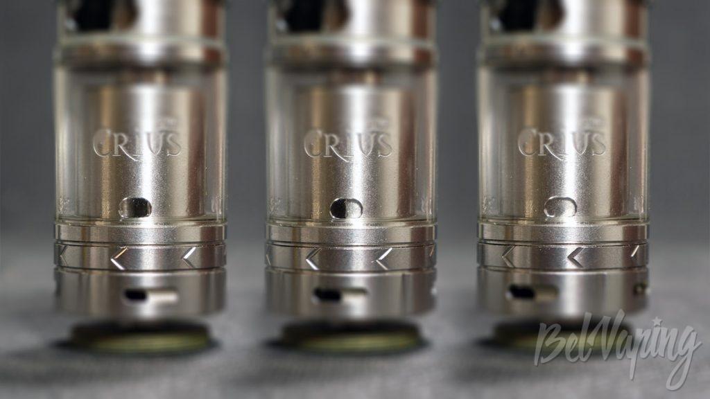 OBS Crius Plus RTA - регулировка подачи жидкости