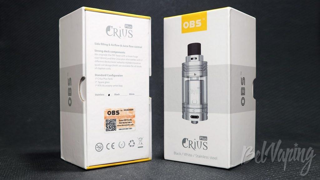 OBS Crius Plus RTA - упаковка