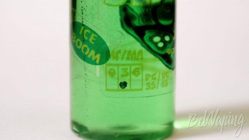 Жидкость Зелье: мешанина для гурмана - маркировка никотина