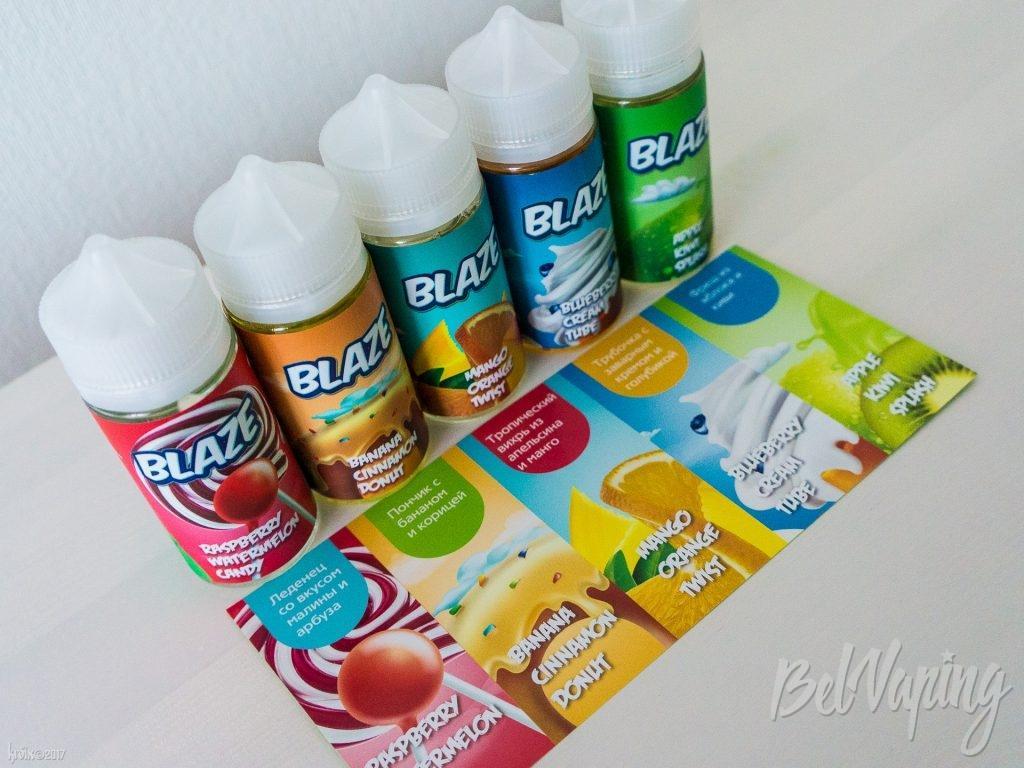 Карта вкусов жидкостей BLAZE