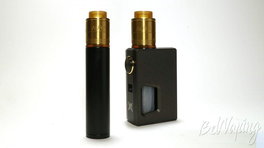 Digiflavor AURA RDA - внешний вид на разных устройствах