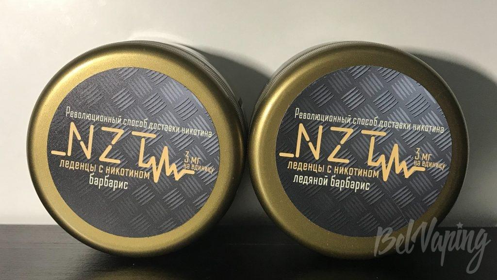 Леденцы с никотином NZT - Барбарис и ледяной барбарис