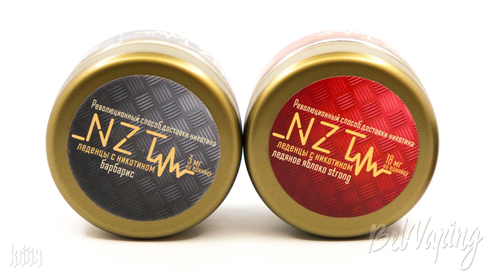 Упаковка леденцов NZT