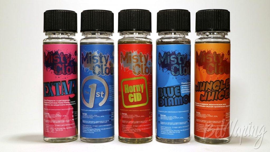 Жидкости Misty Cloud - палитра вкусов